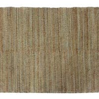 Solis Natural Solid Beige/ Green Area Rug (8' x 10') - 8' x 10'