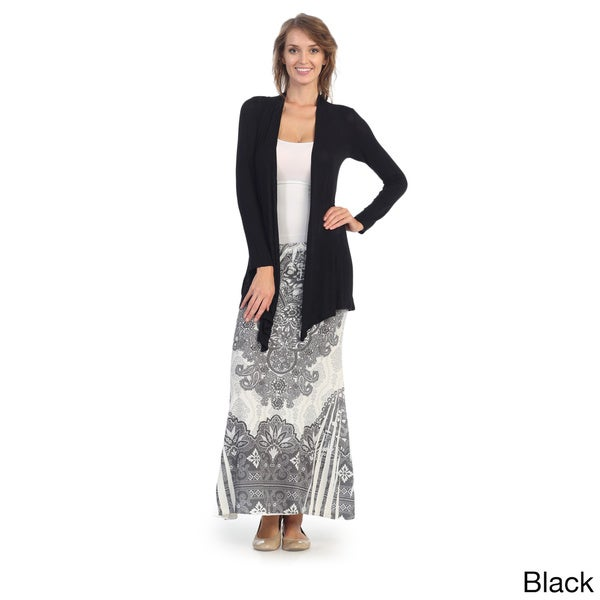 Hadari Women's Contemporary Trapeze Open Cardigan