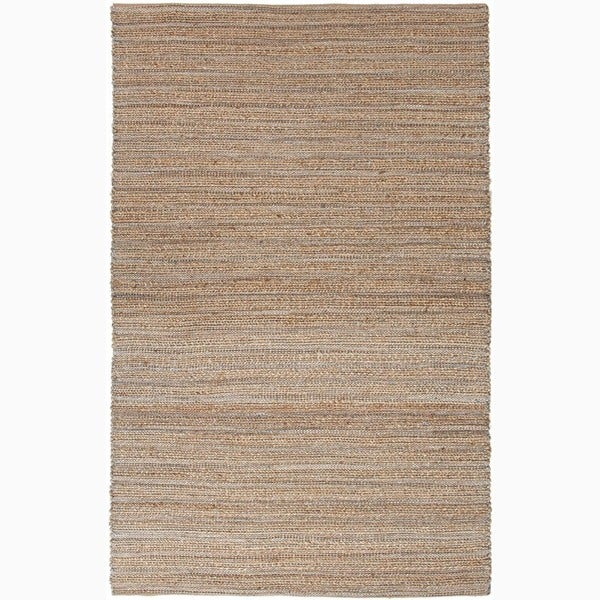 Solis Natural Solid Beige/ Blue Area Rug - 9' x 12'