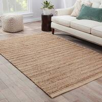 Solis Natural Solid Tan/ White Area Rug (9' x 12')