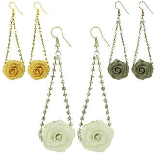 Kate Marie Fashion Big Rose Earring