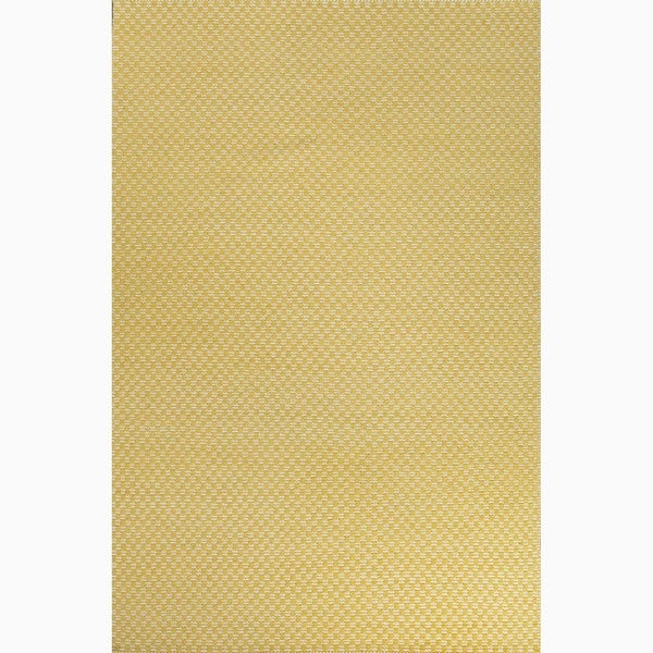 Hand-Made Yellow/ Ivory Wool Eco-friendly Rug (8x10). Opens flyout.
