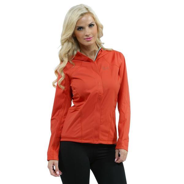 Mountain Hardwear Women's Orange Effusion Hooded Jacket
