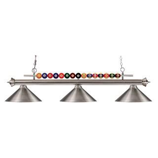 Avery Home Lighting 3-light Brushed-nickel Billiard Fixture
