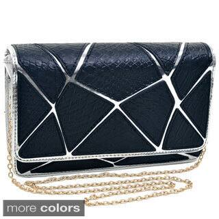 Dasein Embossed Croco Patch Chrome Clutch|https://ak1.ostkcdn.com/images/products/8584284/Dasein-Embossed-Croco-Patch-Chrome-Clutch-P15856911.jpg?impolicy=medium