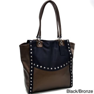 Link to Dasein Pyramid Studded Two-Tone Shoulder Bag Similar Items in Shop By Style