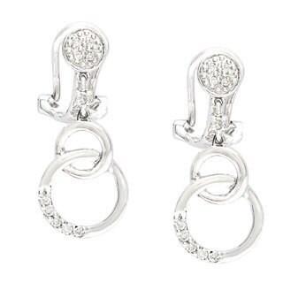 Neda Behnam 14k White Gold 1/6ct TDW Circle Drop Earrings