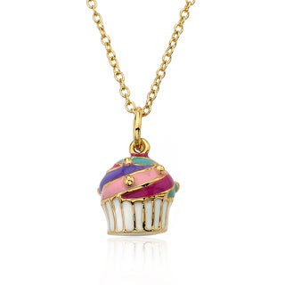 14K Gold Plated Little Miss Twin Stars Candyland Necklace