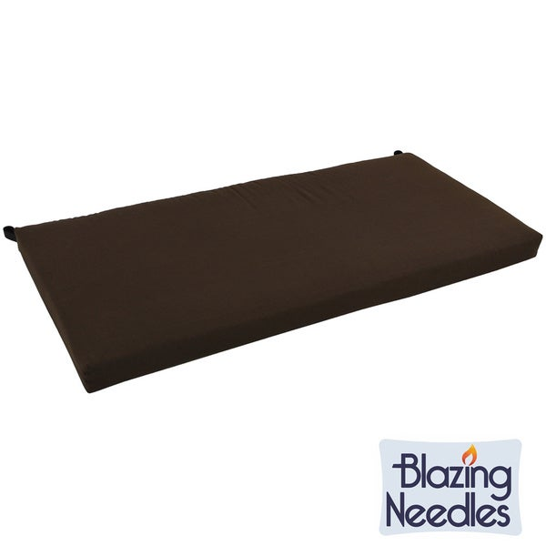 Blazing Needles 42 Inch Solid Twill Indoor Bench Cushion