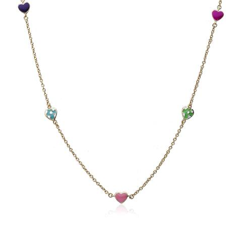 14K Gold Plated Little Miss Twin Stars I Love My Jewels Necklace