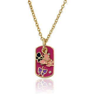 14K Gold Plated Little Miss Twin Stars Necklace