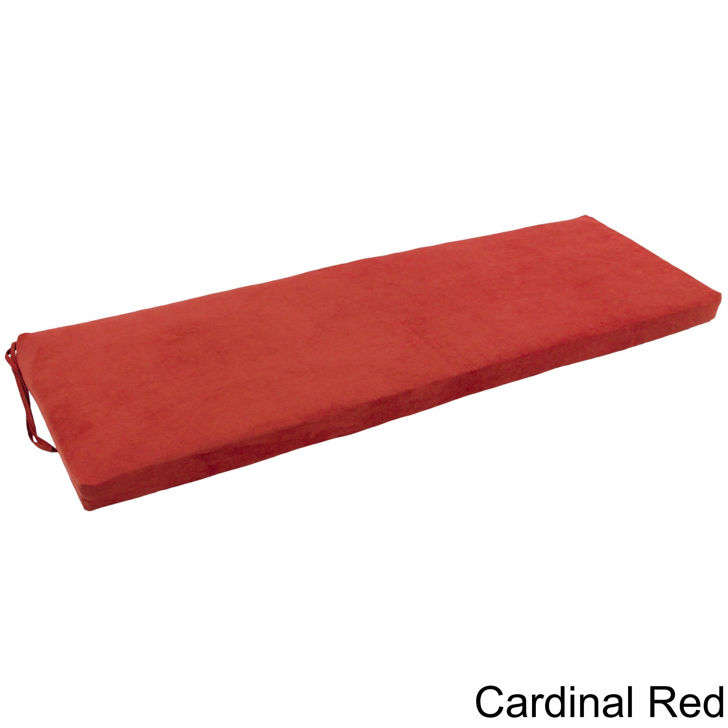Blazing Needles 60-inch Indoor Microsuede Bench Cushion | eBay