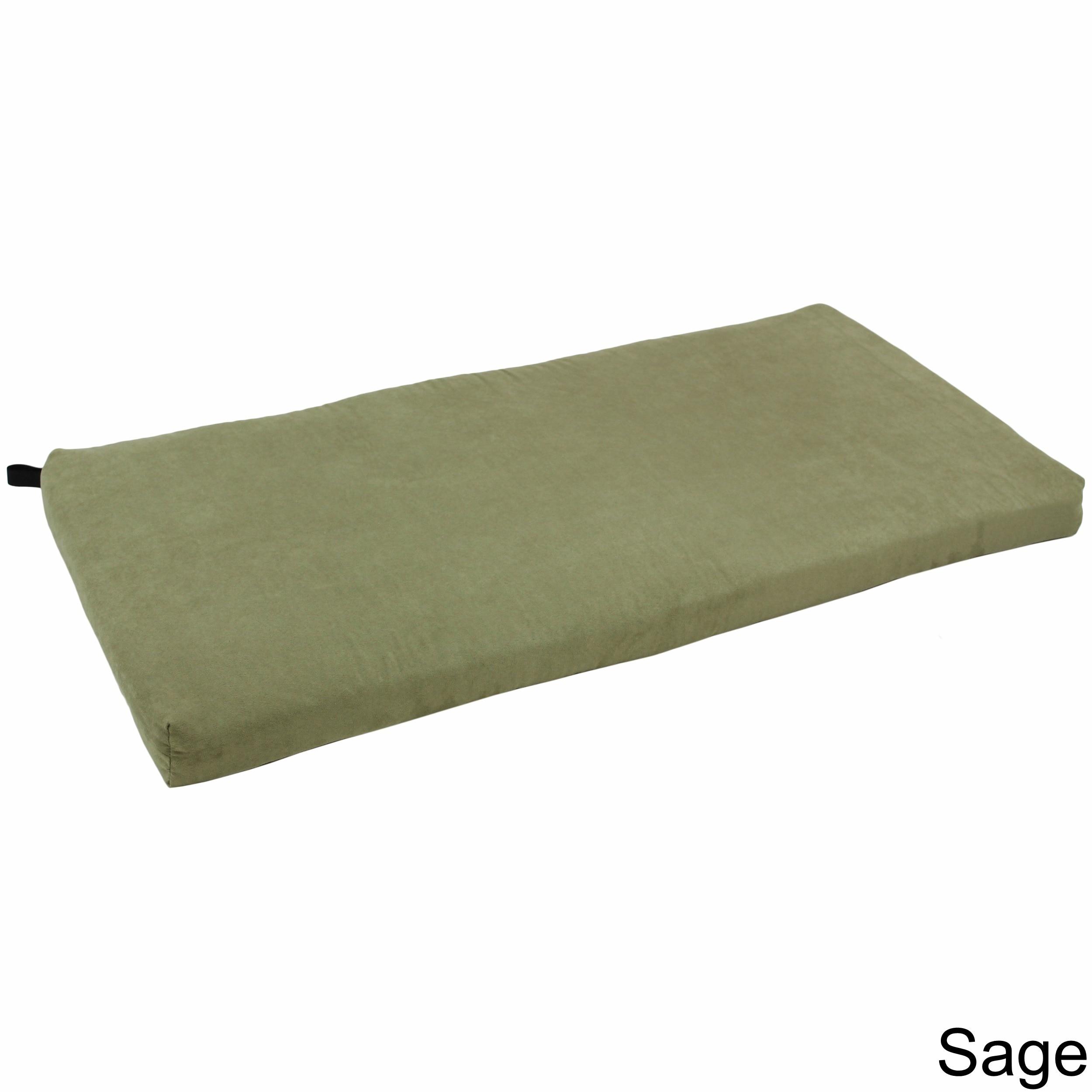 Blazing Needles 42 Inch Microsuede Indoor Bench Cushion Ebay