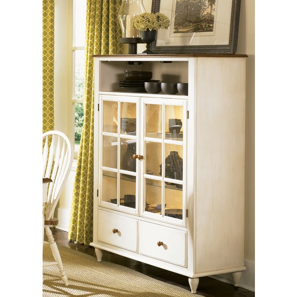 Liberty Low Country Linen Sand Curio Cabinet