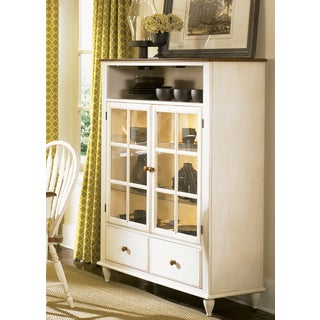 Low Country Linen Sand Curio Cabinet
