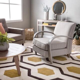 Bloomington Beige Linen Arm Chair