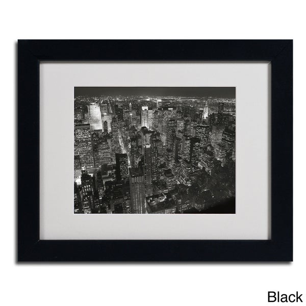 Chris Bliss 'Night Skyline' Framed Matted Art