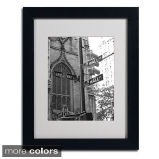 Chris Bliss 'Wall Street Signs' Framed Matted Art