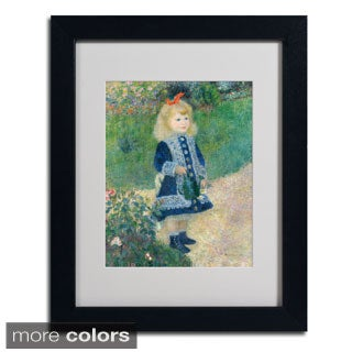 Pierre Renoir 'A Girl With a Watering Can' Framed Matted Art