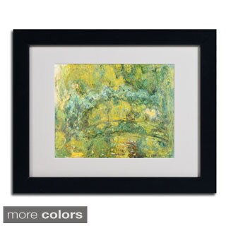 Claude Monet 'Passage On Waterlily Pond' Framed Matted Art