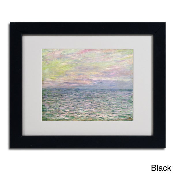 Claude Monet \'Coucher de Soleil a Pourvil\' Framed Matted Art - Free ...