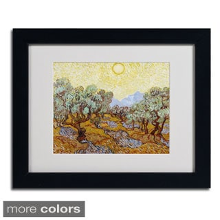 Vincent van Gogh 'Olive Trees 1889' Framed Matted Art