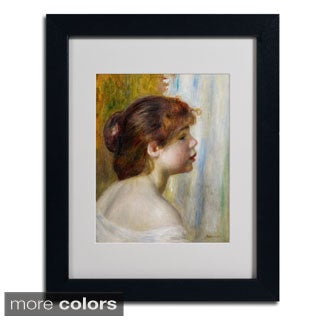 Pierre Renoir 'Head of a Young Woman' Framed Matted Art