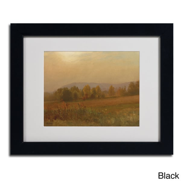 Albert Bierstadt Autumn Landscape Framed Matted Art