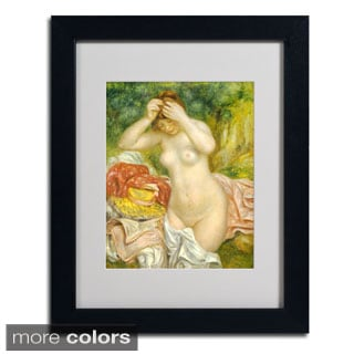 Pierre Renoir 'Bather Arranging Her Hair' Framed Matted Art