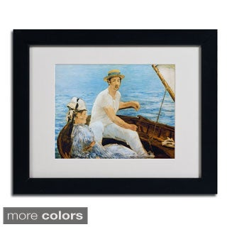 Edouard Manet 'Boating 1874' Framed Matted Art