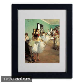 Edgar Degas 'Dance Examination 1873-74' Framed Matted Art