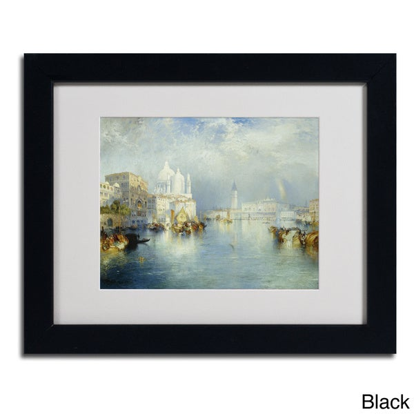 Thomas Moran 'Grand Canal Venice 1903' Framed Matted Art