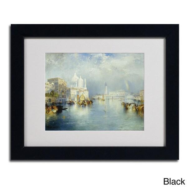 Thomas Moran 'Grand Canal Venice 1903' Framed Matted Art