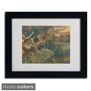 Edgar Degas 'Four Dancers 1899' Framed Matted Art