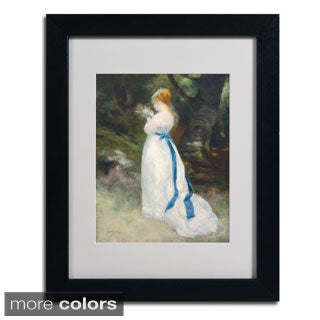 Pierre Renoir 'Lady In White' Framed Matted Art