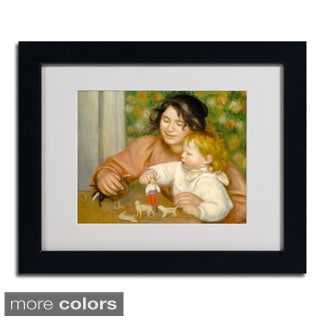 Pierre Renoir 'Child With Toys 1895-96' Framed Matted Art