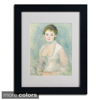 Pierre Renoir 'Madame Henriot 1876' Framed Matted Art