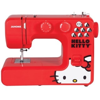 Janome 13512 Hello Kitty Easy-to-Use Sewing Machine with Aluminum Interior Frame, Automatic Needle Threader
