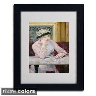 Edouard Manet 'Plum Brandy 1877' Framed Matted Art