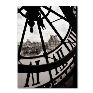 Michael de Guzman 'Big Clock' Canvas Art