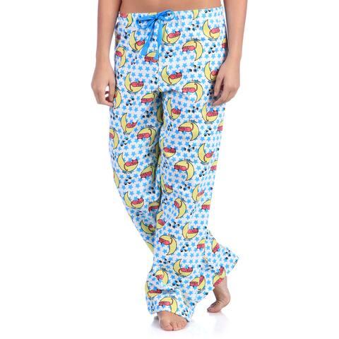 Leisureland Women's Sleepy Kitty Cotton Flannel Sleep Pants