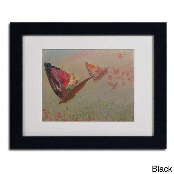 Albert Bierstadt 'Butterflies With Riders' Framed Matted Art