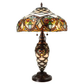 Arielle Double Lite Ivory Table Lamp