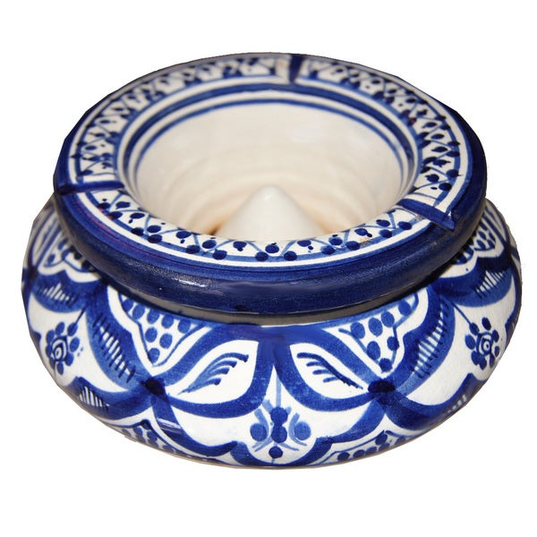 Handmade Moroccan Fez 2-piece Ceramic Ashtray , in Morocco (Morocco)