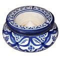 Moroccan Handmade Fez 2-piece Ceramic Ashtray , Handmade in Morocco