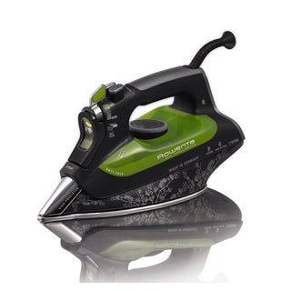 Rowenta DW6080 Black 1700-Watts Eco-Intelligence Steam Iron with 3D 400-Hole Stainless Steel Soleplate