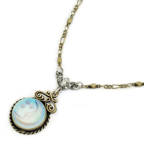 Sweet Romance Aurora Moon Pendant Necklace