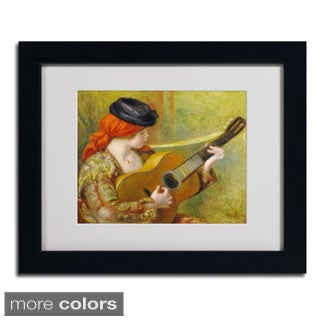Pierre Renoir 'Young Spanish Woman' Framed Matted Art