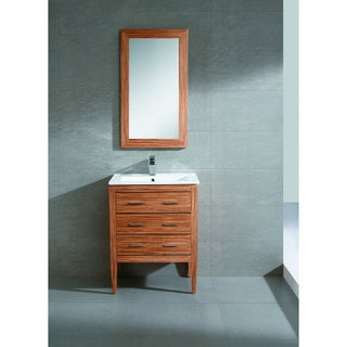"Fine Fixtures Exclusive 24"" Plywood Zebra Vanity Set"