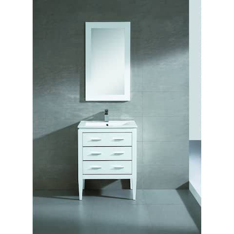 Fine Fixtures Exclusive 24-inch White Plywood Vanity Set